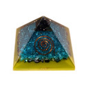 Orgone Pyramid with Cross in Half Moon