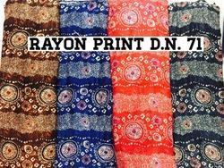 Rayon Print 44 Inch Fabrics 12kg