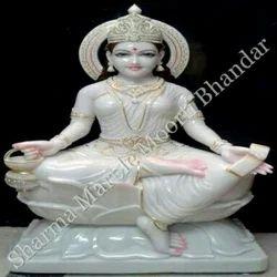 White Marble Laxmi Maa Statue