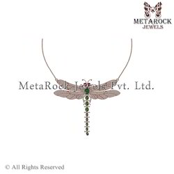 14k Rose Gold Micro Pave Diamond Necklace