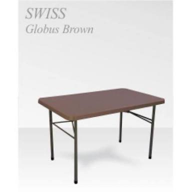 Brown Rectangular Supreme Furniture Swiss Plastic Table Size L1220mm W762mm Ht743mm