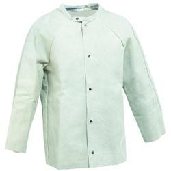 Full Sleeves Polyester Welding Leather Jacket, For Construction, Model Name/Number: Tillman