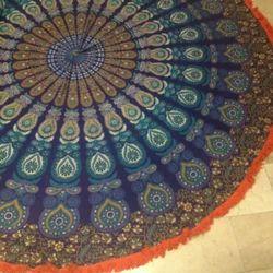 Round Mandala Beach Towel Tapestry