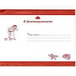 Upanayanam Invitation Card at Rs 2300 pieces Invitation Card