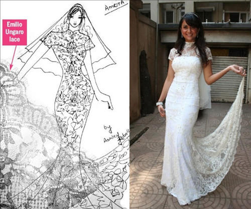 Ashley Rebello Dress & Indian White Wedding Dresses Service ...