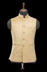 Beige Velvet Waistcoat