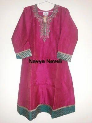 Pink Kurta With Heavy Embroidery - Navya Naveli, Bengaluru