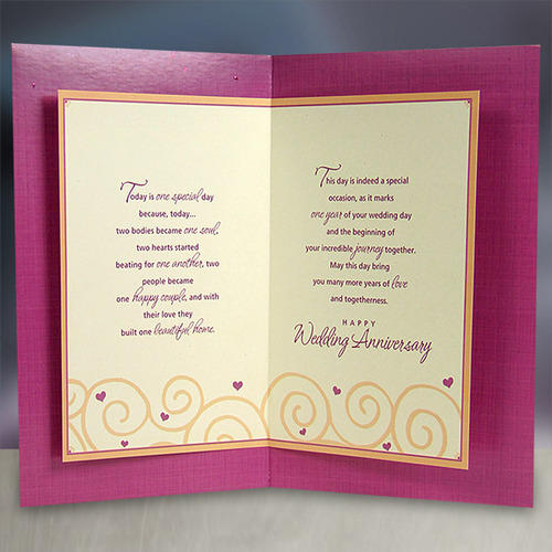 First Your Wedding Anniversary Card at Rs 95 no Marriage