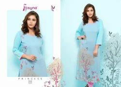 Psyna Princess 13 Rayon Kurtis