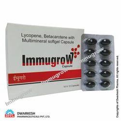 Soft Gel Capsules of Lycopene Betacarotene