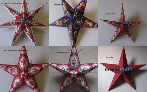 Christmas Decoration Paper Stars At Rs