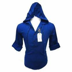 Blue Hoodies Mens Shirts