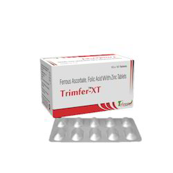 Trimfer-xt Folic Acid & Iron Tablets, Packaging Type: Box, Packaging Size: 10 X 10
