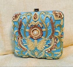 Designer Zardosi Work Box Clutches