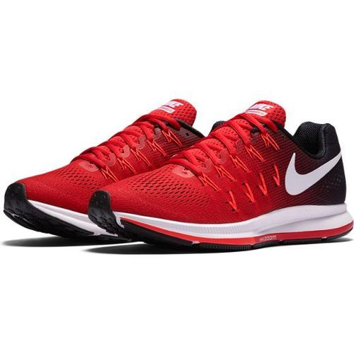 630975ab5df6 Red And Black Men Nike Air Zoom Pegasus 33 Red Running Sport Shoes ...