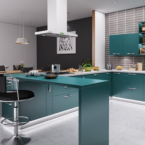 Modular Kitchen With Breakfast Counter At Rs 185000 /unit