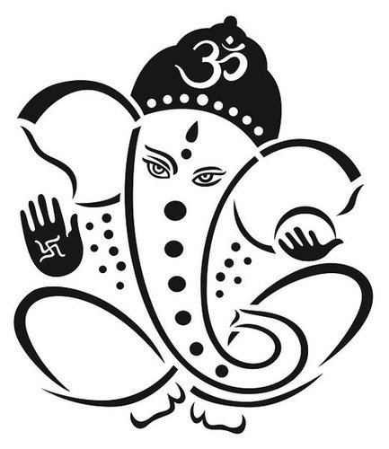 beautiful black god ganesha wall stickers at rs 249 /piece(s