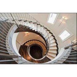 Designer Stainless Steel Spiral Railing