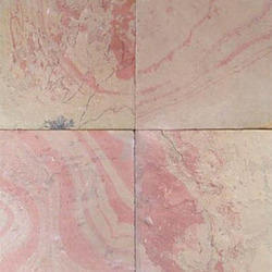 Square Red Slate Stone Tiles, Thickness: 35-45 mm