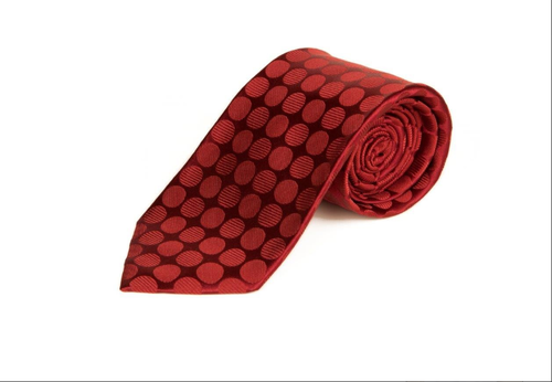 maroon base with same colour polka dots tie memphis commerce
