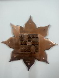 Copper Lotus Pyramid Swastik