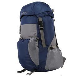 Bleu Light Weight Foldable Rucksack Bag - Navy Blue & Grey