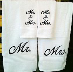 Cotton Embroidered Couple Towel Set