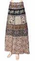 Bagru Print Wrap Skirt