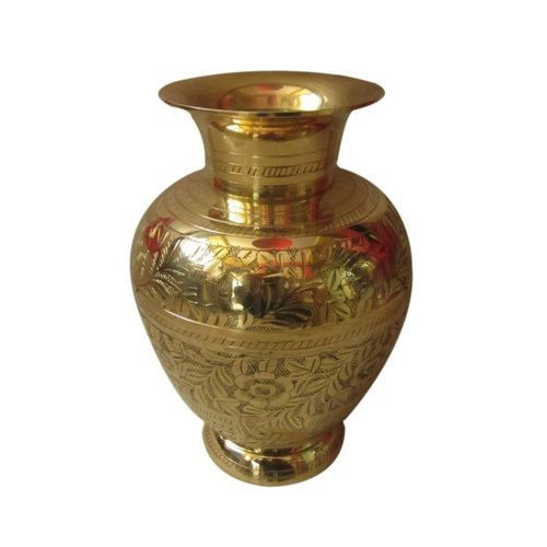 Golden Engraved Brass Flower Vase Shape Round Shaped  sc 1 st  IndiaMART & Golden Engraved Brass Flower Vase Shape: Round Shaped Rs 250 ...