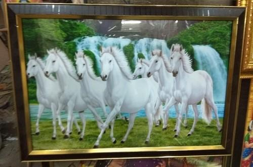 7 Horse Painting Photo Frames Size 1218 डजइनर फट