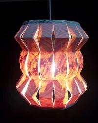 Small Zigzag Round Slitz Hanging Lamp