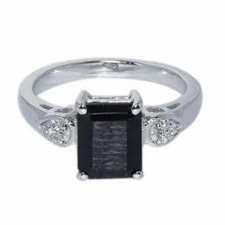 SHRI0143 Smoky Quartz Designer Silver Ring