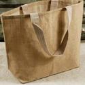 Brown Loop Handle Plain Jute Shopping Bag