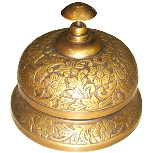 Vintage Brass Desk Bell - Vintage Brass Desk Bell, Prachin Mez Ki Ghanti - Masco International