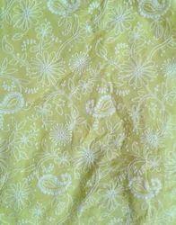 Georgette Lakhnavi Embroidered Fabric