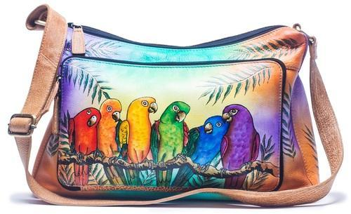 Hand Painted Leather Crossbody Shoulder Bag at Rs 1850  piece ... 1013263edb393