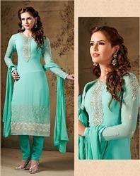 d449a69967 Designer Green Embroidery Georgette With Fre at Rs 750 /piece ...