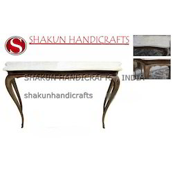 Shakun Handicrafts Wood, Marble Antique Tables, For Home