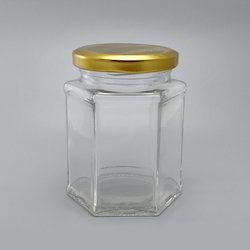 Transparent Glass Food Jar, Packaging Type: Box, Shrink