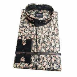 Cotton Multicolor Mens Printed Shirts