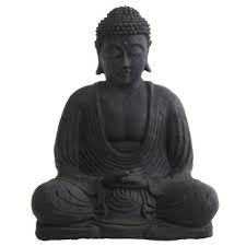 Black Marble Beauty Buddha Figure