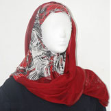 Red Hijab Scarves