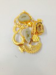 Gold Plated Gemstone Pendant