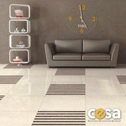 Porcelain Glossy Vitrified Tiles, Thickness: 6 - 8 mm, Size: Medium