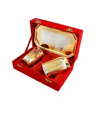 Gold & Silver Plated Glass Set
