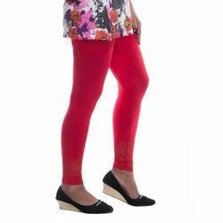 Ladies Red Plain Leggings