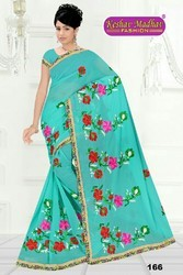 Embroidery Work Saree