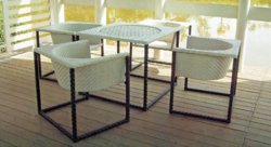 Fancy Style Outdoor Wicker Coffee Set