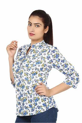 cc9aa8a5892de S-M-L As Shown Designer Party Wear Blue Color Stylish Shirt