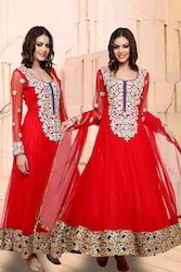Heavy Stone Work Anarkali Suit